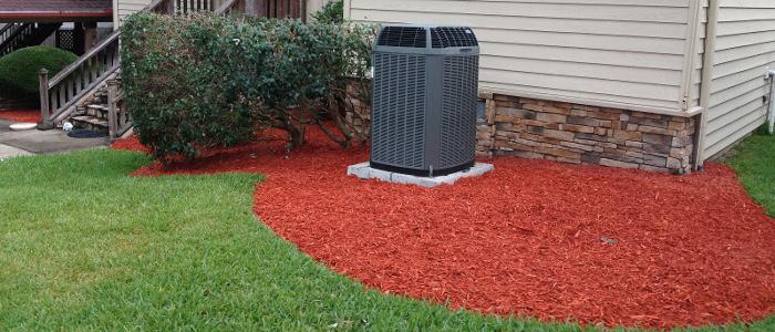bright red mulch